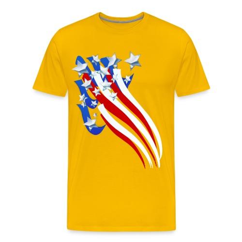 Sweeping Old Glory - Men's Premium T-Shirt