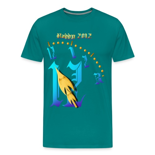 Happy 2012-Clock Striking 12:NM - Men's Premium T-Shirt