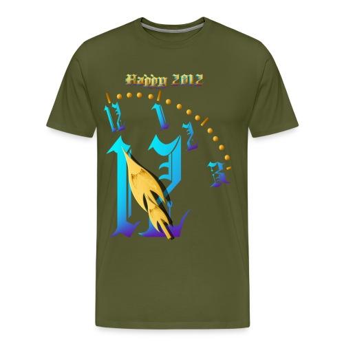 Happy 2012-Clock Striking 12:NM - Men's Premium T-Shirt