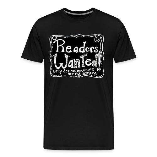 readerswantedlogo - Men's Premium T-Shirt