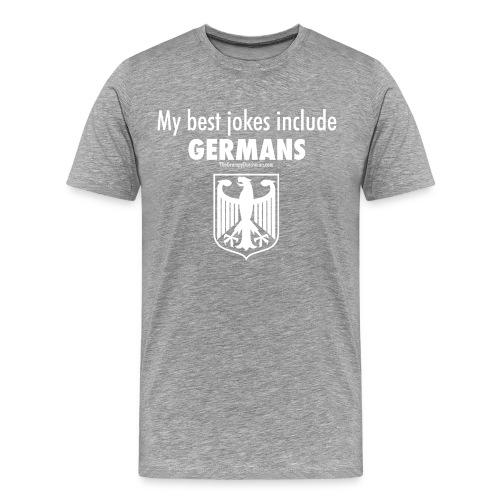 17 Germans white lettering - Men's Premium T-Shirt