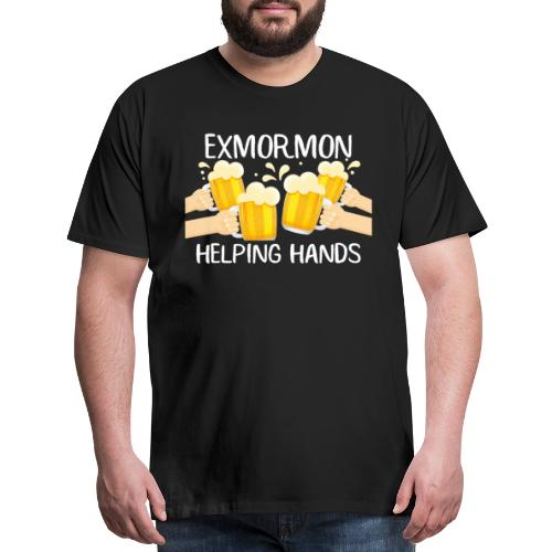 Exmormon Helping Hands white typo - Men's Premium T-Shirt