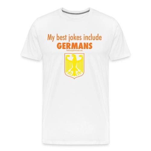 16 Germans colored lettering - Men's Premium T-Shirt