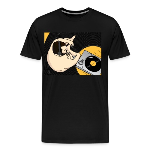 vinyl hires 01 png - Men's Premium T-Shirt