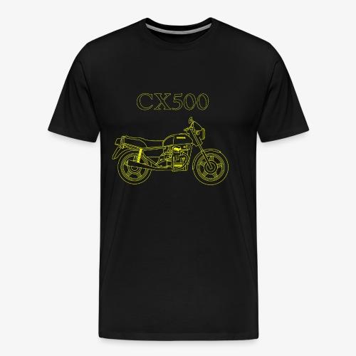CX500 line drawing - Men's Premium T-Shirt