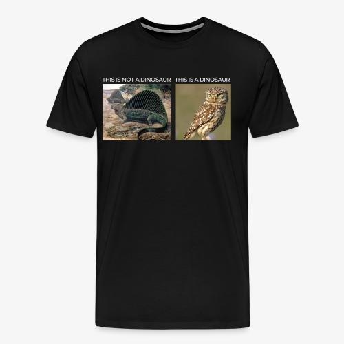 This is not a dinosaur (dark background) - Men's Premium T-Shirt