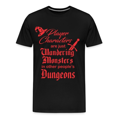 Wandering Monsters red - Men's Premium T-Shirt