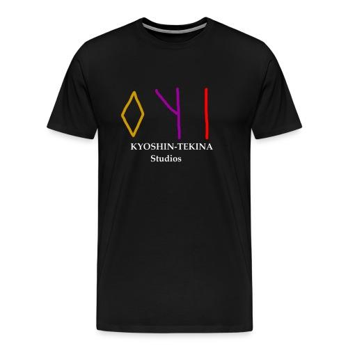 Kyoshin-Tekina Studios logo (white text) - Men's Premium T-Shirt