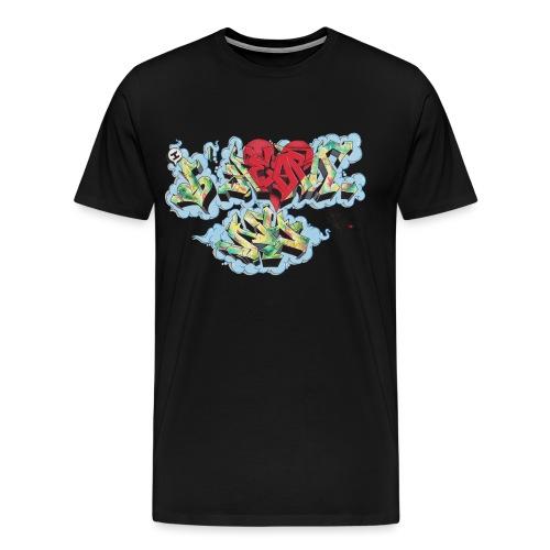 Nover - Design for New York Graffiti Color Logo - Men's Premium T-Shirt