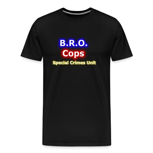 Bro Cops law and order T Shirt larger png - Men's Premium T-Shirt