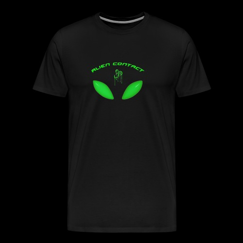 Alien Contact Green Eyes - T Shirt - Men's Premium T-Shirt