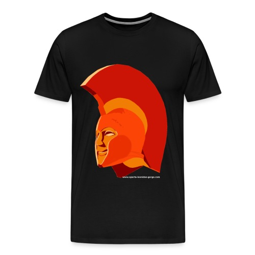 LeonidasKopf12transparentweiss png - Men's Premium T-Shirt