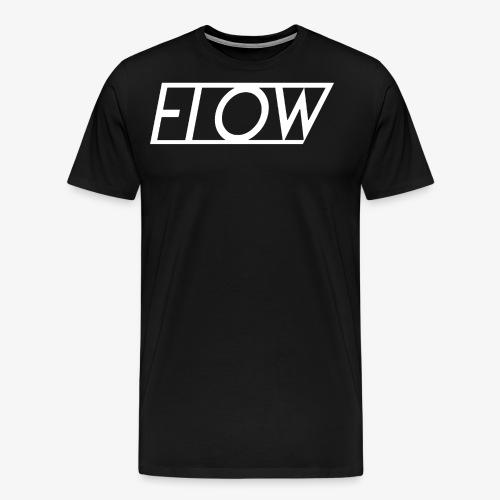 Classic White Flow Logo Tee - Men's Premium T-Shirt