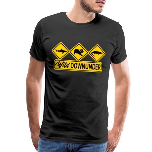 Wild Downunder Aussie Street Sign - Men's Premium T-Shirt