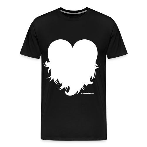 Heartbeard with text - Men's Premium T-Shirt