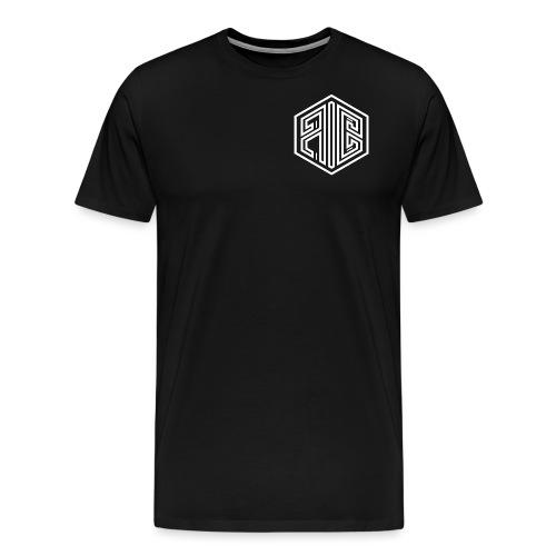 Blackout // WHITE Brand Logo > BLACK - Men's Premium T-Shirt