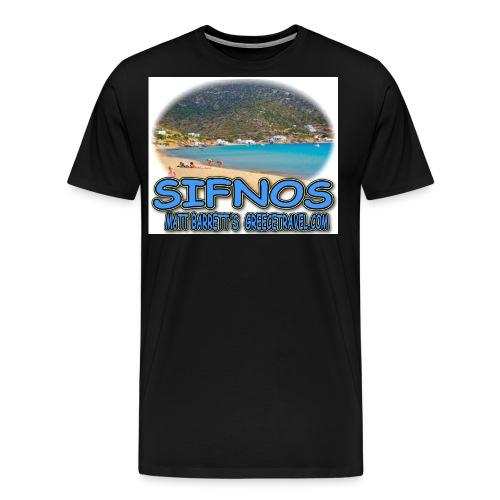 SIFNOS VATHI jpg - Men's Premium T-Shirt