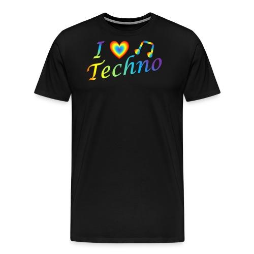 I LOVETECHNO MUSIC - Men's Premium T-Shirt