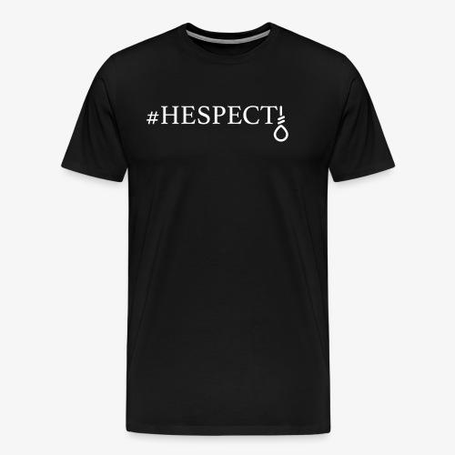 HESPECT - (White) - Men's Premium T-Shirt