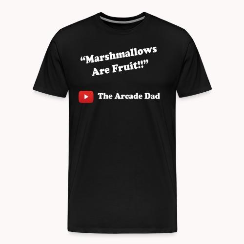 The Arcade Dad marshmallows are fruit shirt - Men's Premium T-Shirt