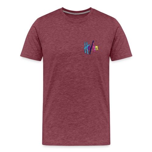He/Him 1 - Small (Nametag) - Men's Premium T-Shirt