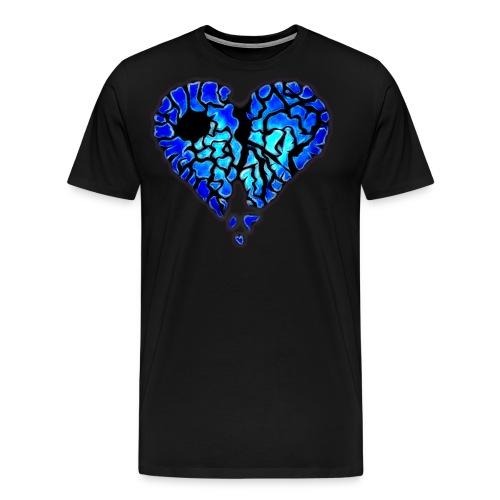 Icy Blue Heart - Men's Premium T-Shirt