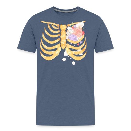 Pastel Goth Gold Rib Cage Shirt - Men's Premium T-Shirt