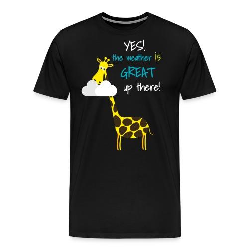 Funny Giraffe T-shirt for men women kids - Men's Premium T-Shirt