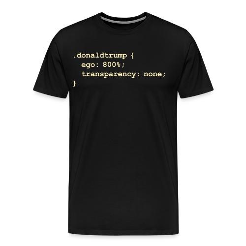 Donald Trump's CSS Style Sheet - Men's Premium T-Shirt