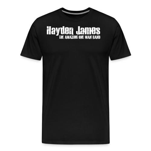 Hayden James (White Logo) - Men's Premium T-Shirt