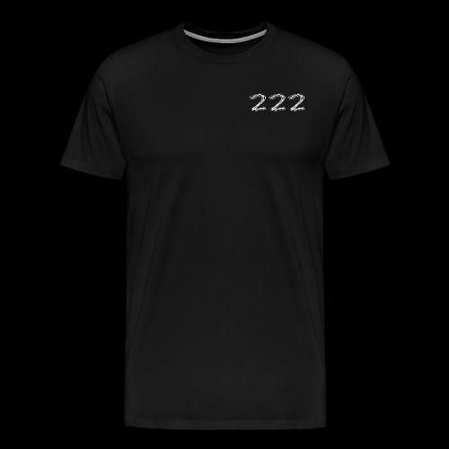222 Chalk Style Pocket Logo - Men's Premium T-Shirt