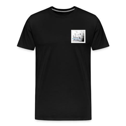 puppy feet in snow3 - Men's Premium T-Shirt