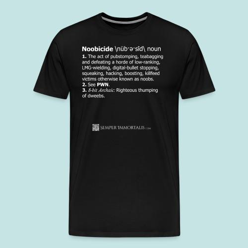 Noobicide (white) - Men's Premium T-Shirt