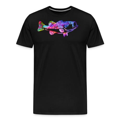 Fish Watercolor Bass Fishing Water Color Fish - Men's Premium T-Shirt