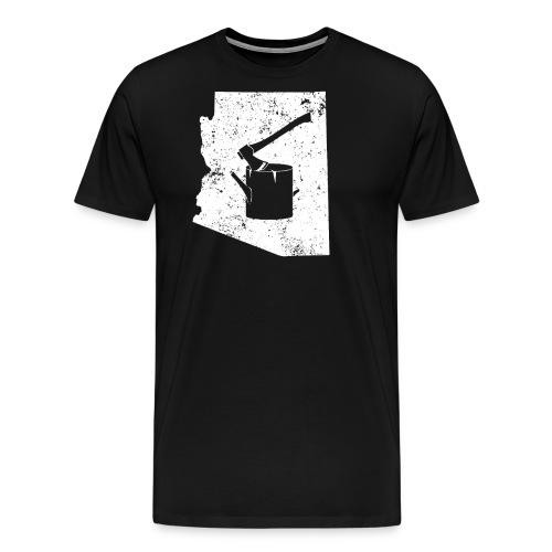 Axe T Shirt Logging Work Shirt Arizona Shirt - Men's Premium T-Shirt