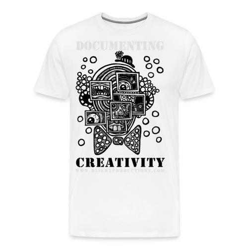 Documenting Creativity B W - Men's Premium T-Shirt