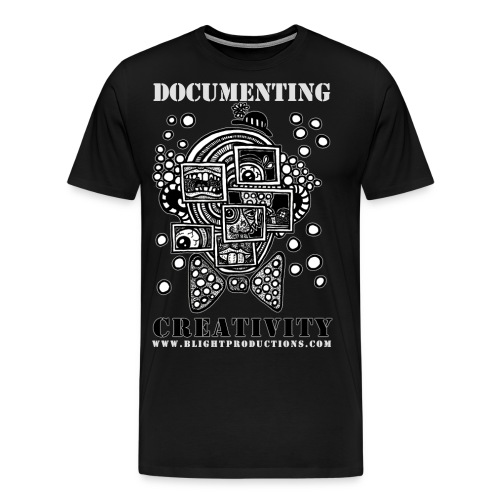 Documenting Creativity B W - Men's Premium T-Shirt