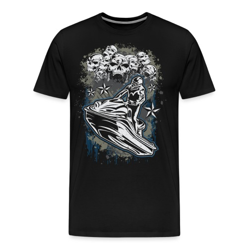 Jet Ski Skull Bunch - Men's Premium T-Shirt