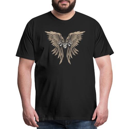Skulls and Wings Illustration - Men's Premium T-Shirt