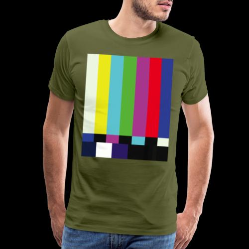 This is a TV Test | Retro Television Broadcast - Men's Premium T-Shirt