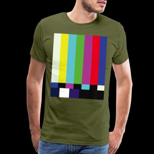 This is a TV Test | Retro Television Broadcast - Men's Premium T-Shirt