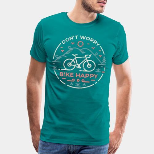 don't worry bike happy - Men's Premium T-Shirt