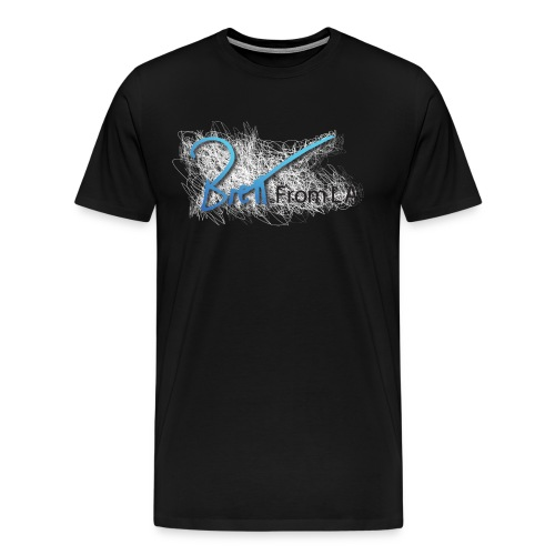 BrettFromLA Scribble for dark products - Men's Premium T-Shirt