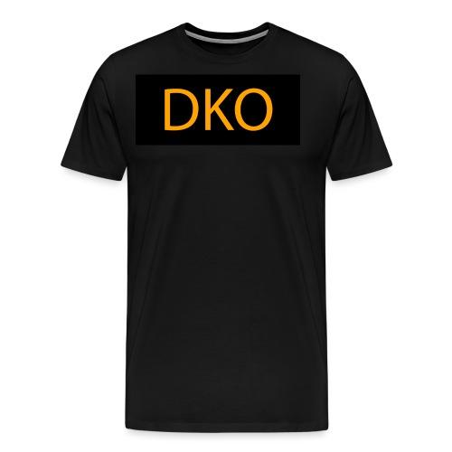 DKO orange and black - Men's Premium T-Shirt