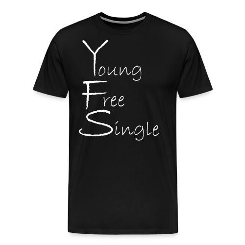 Young Free Single from Bent Sentimenta - Men's Premium T-Shirt