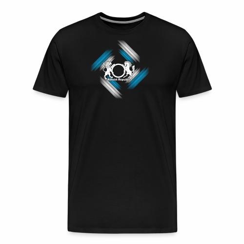 Atheist Republic Logo - Blue & White Stripes - Men's Premium T-Shirt