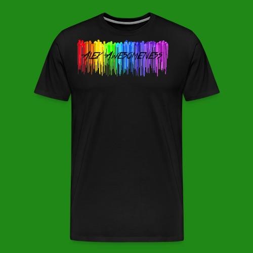 Rainbow Drip AA styled - Men's Premium T-Shirt