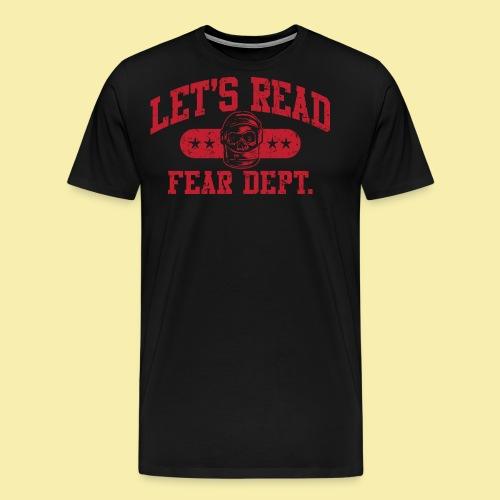 Fear Dept - Athletic Red - Inverted - Men's Premium T-Shirt