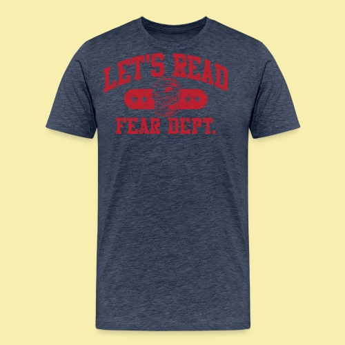Fear Dept - Athletic Red - Inverted - Men's Premium T-Shirt