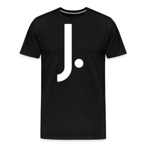 J Dot Period Simple Letter J Design English - Men's Premium T-Shirt